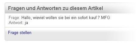 Dumme Frage auf eBay