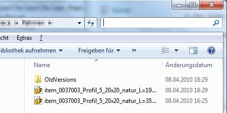 Integrierte Schnellsuche im Explorer unter Windows 7: funktioniert nicht