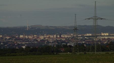 Blick über Dresden, von Mobschatz aus