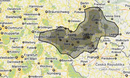 Ölfleck aus dem Golf von Mexiko über Dresden