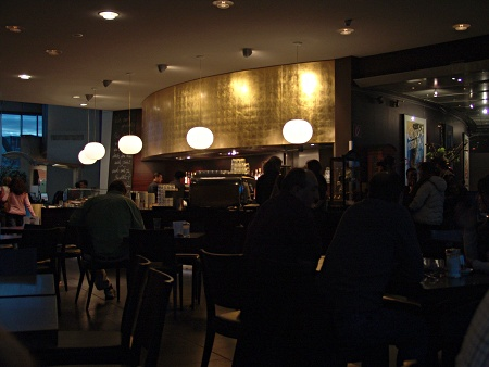 im Cafe des Schokoladenmuseums Köln