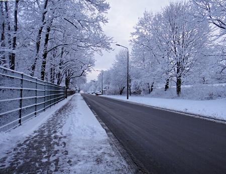 Dresden winterlich verschneit