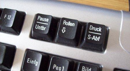 Tastatur, druck und pause vertauscht