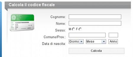 Online-Gernerator codice fiscale
