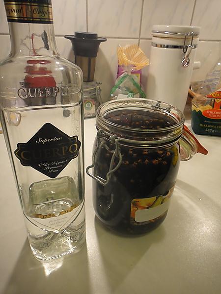 Ansatz Johannisbeer auf Rum