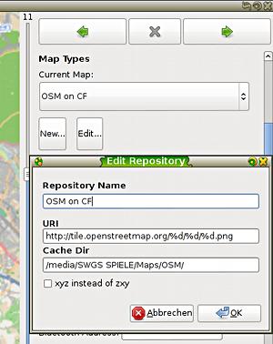 Eigenes Kartendatenprofil in FoxtrotGPS