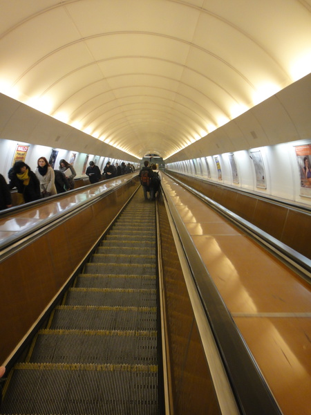 U-Bahn Rolltreppe, Prag