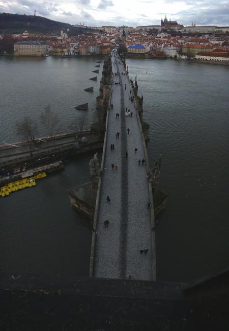 Brückenturm Karlsbrücke, Blick über die Karlsbrücke, Prag