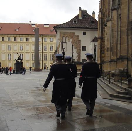 Wachwechsel, Burg, Prag