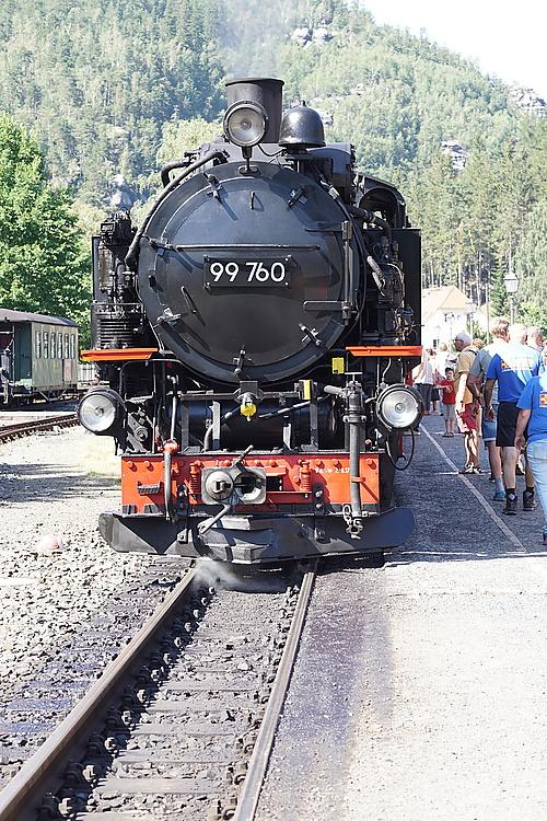 Zittauer Schmalspurbahn, umkoppeln