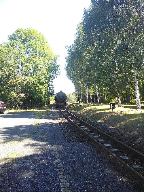 Zittauer Schmalspurbahn, Einfahrt Niederolbersdorf