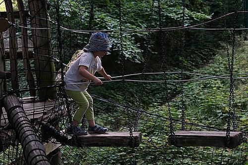 Kletterpfad im Tierpark Görlitz