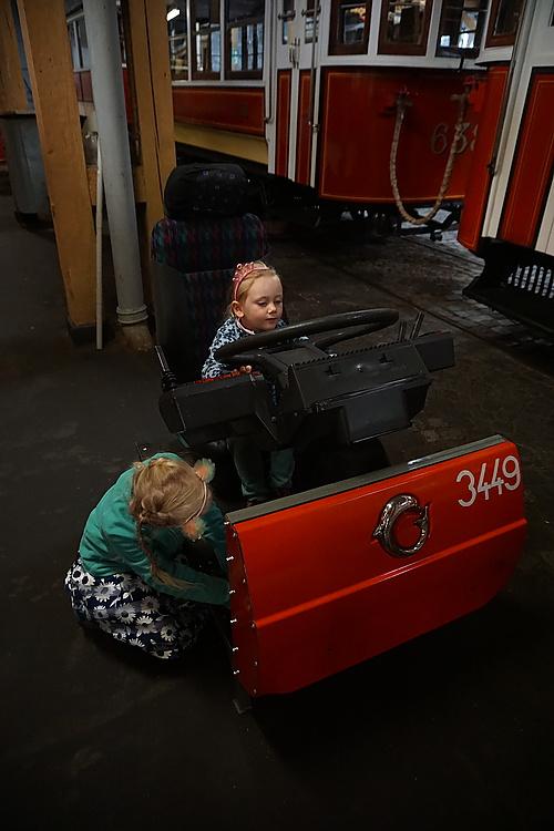Bus-Cockpit zum Ausprobieren im Prager Straßenbahnmuseum