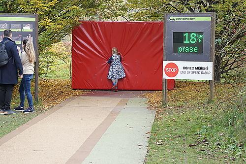 Geschwindigkeitsmessstrecke für flinke Läufer, Zoo Prag