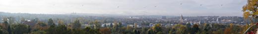 Panorama Prags vom Zoo aus (Eisbärengehege)