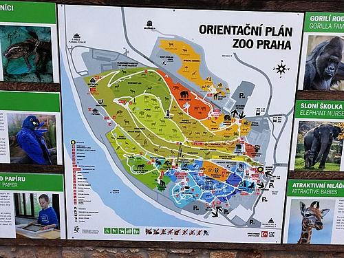 Übersichtskarte Zoo Prag