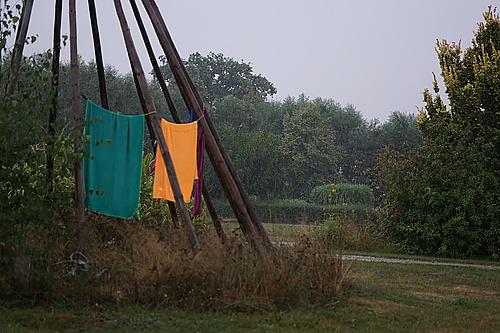 Handtücher im Regen