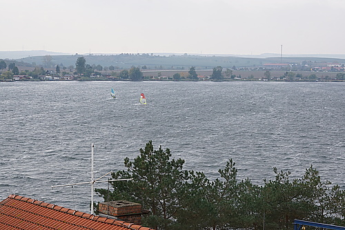 Windsurfer auf dem Süßen See