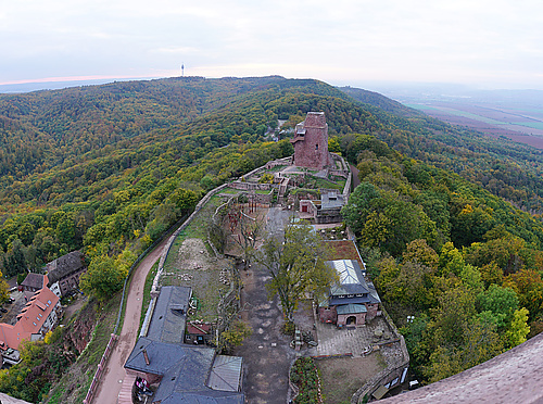 Kyffhäuser, Blick ins Land vom Kaiser-Wilhlem-Denkmal