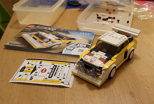 Lego Speed Champions 76897 Audi Sport Quattro S1 mit Stickerseuche