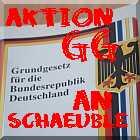 Aktion Grundgesetz an Schäuble