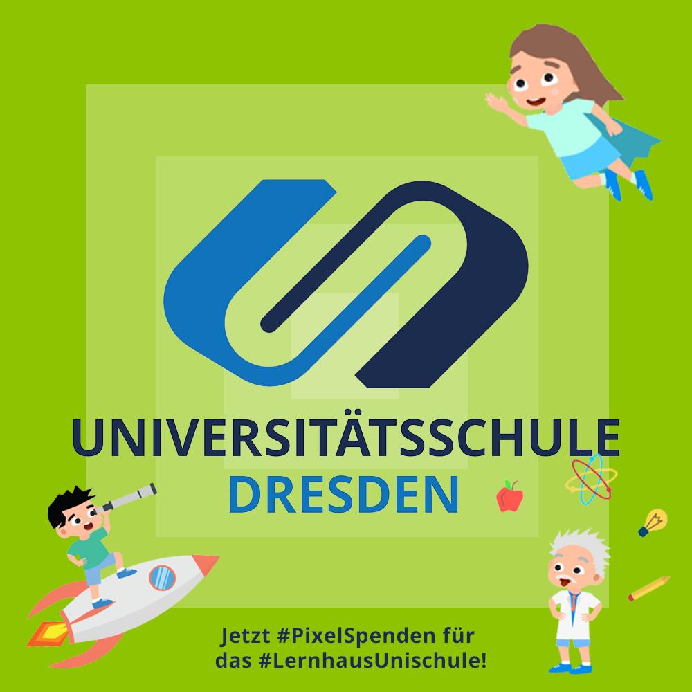 Million-Pixelbild für das Lernhaus der Universitätsschule Dresden